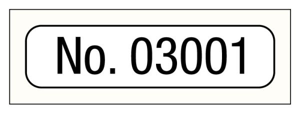 Consecutive Number Label, 1