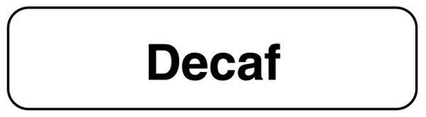 DECAF, Beverage Labels, 1-1/4