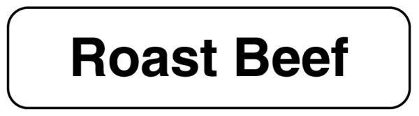 ROAST BEEF, Food Identification Labels, 1-1/4