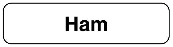 HAM, Food Identification Labels, 1-1/4