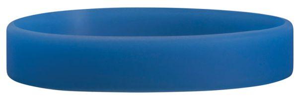 Blue Blank Silicone Wristband, 10-1/8