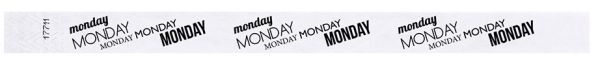 MONDAY Adult Tyvek Weekday Wristband