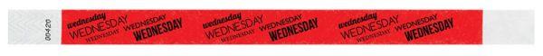 WEDNESDAY Adult Tyvek Weekday Wristband