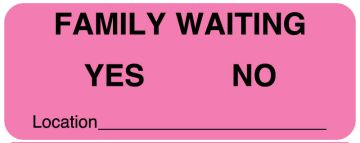 """Family Waiting Label, 2-1/4"""" x 7/8"""""""