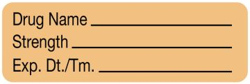 """Anesthesia Label, Blank, 1-1/2"""" x 1/2"""""""