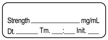 """Anesthesia Label, Blank  DTI 1-1/2"""" x 1/2"""""""