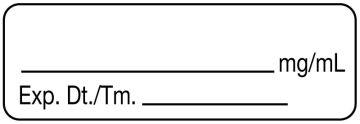 "Anesthesia Label, No Drug Name, 1-1/2"" x 1/2"""