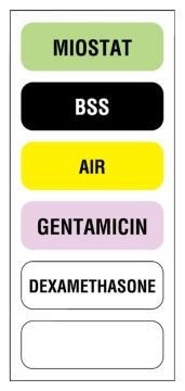 "6-label Anesthesia Sheet, 1-1/2"" x 1/2"""