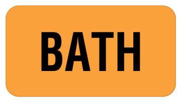 "Bath Label, 1-5/8"" x 7/8"""