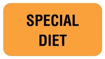 "SPECIAL DIET, Communication Label, 1-5/8"" x 7/8"""