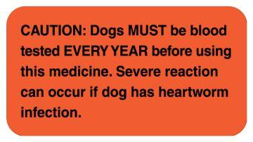 "Medication Instruction Label, 1-5/8"" x 7/8"""