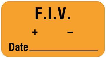 "FIV Label, 1-5/8"" x 7/8"""