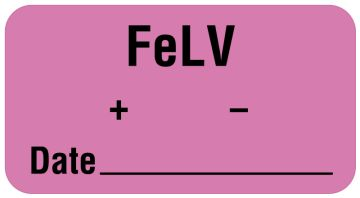 "FeLV Label, 1-5/8"" x 7/8"""