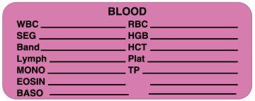 "Blood Label, 2-1/4"" x 7/8"""