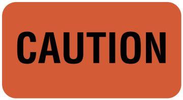 """Caution Label, 1-5/8"""" x 7/8"""""""