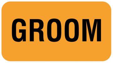 "GROOM, Communication Label, 1-5/8"" x 7/8"""