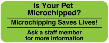 "MICROCHIP, Communication Label, 2-1/4"" x 7/8"""