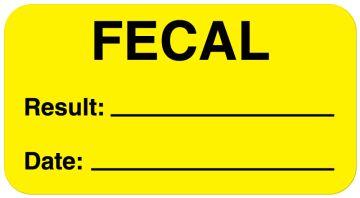 "Fecal Label, 1-5/8"" x 7/8"""