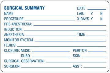 "Examination Record Label, 4"" x 2-5/8"""