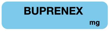 "Buprenex Medication Label, 1-1/4"" x 5/16"""