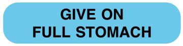 """GIVE ON FULL STOMACH mg/mL, 1 5/8"""" x 3/8"""", 500 Labels"""