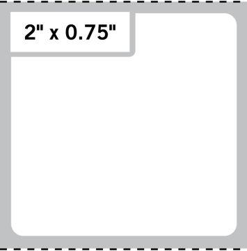"Direct Thermal Printer Label, 3"" Core, 4"" x 4"""
