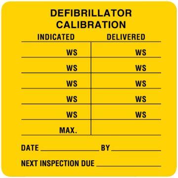 "Self Laminating Equipment Calibration Label, 2-1/2"" x 2-1/2"""