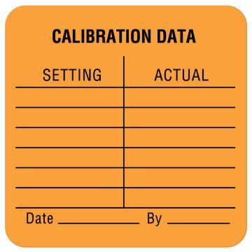 "Calibration Label, 1-1/2"" x 1-1/2"""