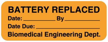 "Battery & Lamp Maintenance Label, 2"" x 3/4"""