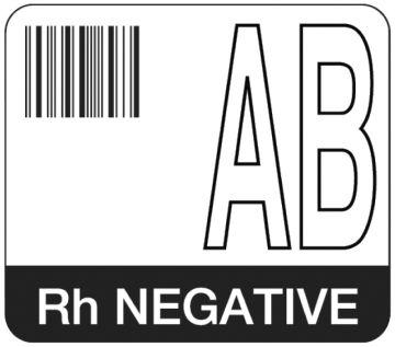 "Codabar ABO Group Label, 1-7/10"" x 1-1/2"""