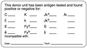 "Antigen Testing Label, 3"" x 1-5/8"""
