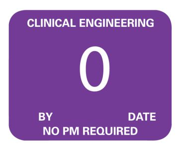 """Clinical Engineering Inspection Label, 2-1/4"""" x 7/8"""""""