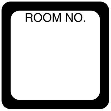 """Room Number Label, 1-1/2"""" x 1-1/2"""""""