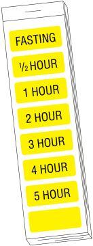 "Glucose Tolerance Label, 1-1/4"" x 1/2"""