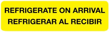 """Refrigerate Shipping Label, 3"""" x 7/8"""""""