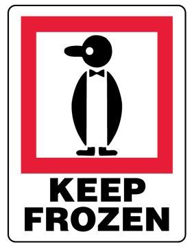 """KEEP FROZEN, Shipping Label, 3"""" x 4"""""""