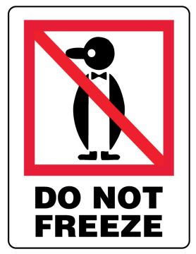 """DO NOT FREEZE, Shipping Label, 3"""" x 4"""""""