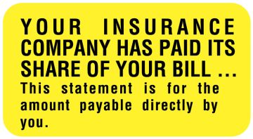 "Insurance Payment Reminder Label, 1-5/8"" x 7/8"""