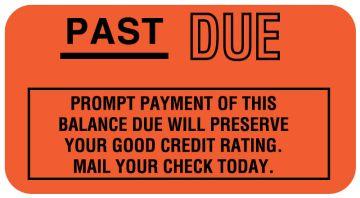 "Payment Reminder Label, 1-5/8"" x 7/8"""