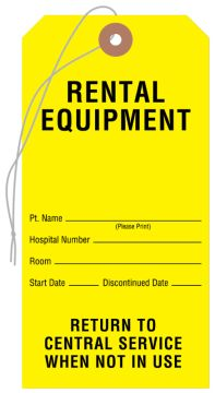 "Equipment Tags, 3-1/8"" x 6-1/4"""