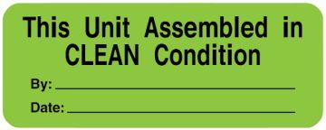 "Equipment Service Label, 2-1/4"" x 7/8"""