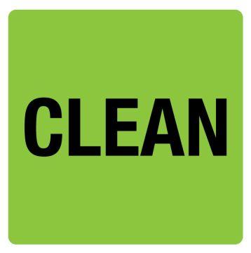 """Clean Label, 4"""" x 4"""""""