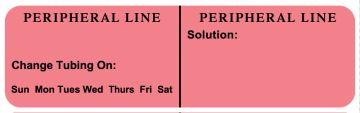 "PERIPHERAL LINE, Line Identification Label, 3"" X 7/8"""