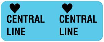 """CENTRAL LINE, I.V. Line Identification Label, 2-1/4"""" x 7/8"""""""