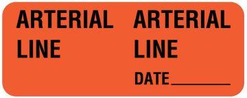 "ARTERIAL LINE, Line Identification Label, 2-1/4"" x 7/8"""