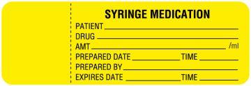 """Irrigation Solution, Syringe Medication Label, 3"""" x 1"""""""