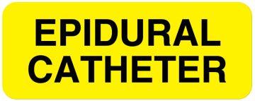 "EPIDURAL CATHETER, Line Identification Label, 2-1/4"" x 7/8"""