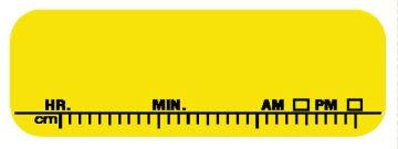 """X-RAY DATE LABEL; BLANK -YLW 610/PACK, 1-1/2"""" x 1/2"""""""