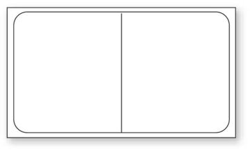 "Cerner Direct Thermal Printer Label, 3"" Core, 2"" x 1-1/8"""