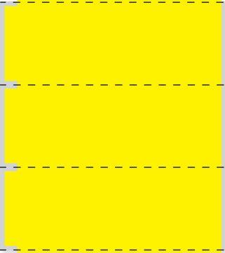 "Cerner Direct Thermal Printer Label, 3"" Core, 3-1/2"" x 1"""